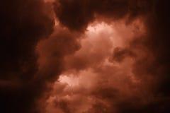 Cielo apocalíptico Fotos de archivo