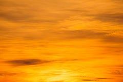 Cielo arancio Fotografia Stock