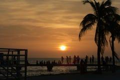 Cielo arancio di alba fotografia stock libera da diritti