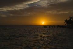 Cielo arancio di alba fotografia stock