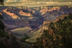 Cielo arancio di tramonto di Grand Canyon - America maestosa fotografia stock