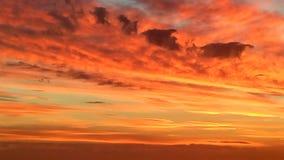 Cielo arancione Fotografie Stock