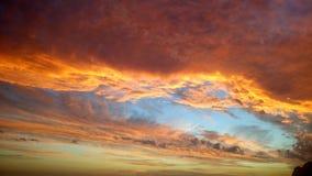 Cielo arancione Fotografie Stock Libere da Diritti