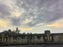 Cielo arancione Immagine Stock