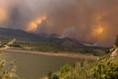 Cielo arancione dall'alto fuoco della sosta in fortificazione Collins Fotografie Stock Libere da Diritti