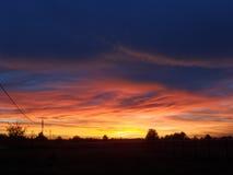 Cielo arancione di tramonto Immagine Stock Libera da Diritti