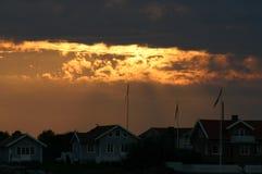 Cielo ardiente Fotos de archivo