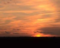Cielo ardiente Imagenes de archivo