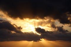 Cielo ardiente Fotografía de archivo libre de regalías