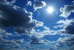 Cielo asoleado Fotografía de archivo libre de regalías
