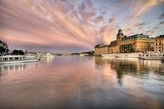 Cielo asombroso sobre Estocolmo. Fotos de archivo libres de regalías