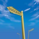 Cielo azul 01 de la manera del éxito Foto de archivo libre de regalías
