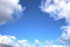 Cielo azul brillante Foto de archivo libre de regalías