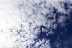 Cielo azul con el primer de la nube imagen de archivo libre de regalías