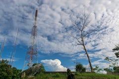 Cielo azul con la nube Fotografía de archivo