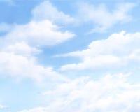 Cielo azul con las nubes Foto de archivo