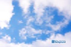 Cielo azul con las nubes fondo del ilustrador fotos de archivo