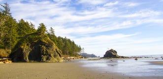 Parque nacional olímpico de la segunda playa de la línea de la playa durante la bajamar Foto de archivo