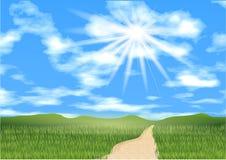Cielo azul a continuación Imagenes de archivo