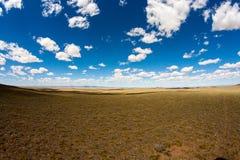 Cielo azul de Mongolia imágenes de archivo libres de regalías