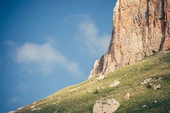 Cielo azul de Rocky Mountains Landscape en fondo Fotos de archivo