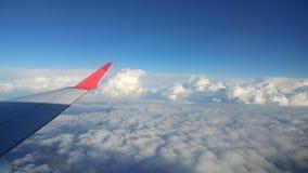Cielo azul del aeroplano Azul foto de archivo