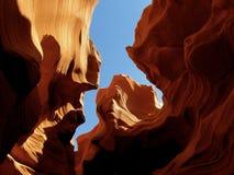 Cielo azul del barranco del antílope de Utah Imágenes de archivo libres de regalías
