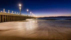 Cielo azul del embarcadero de la puesta del sol de la salida del sol del paisaje urbano de Durban Fotos de archivo