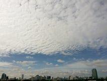 Cielo azul del fondo de la naturaleza Foto de archivo libre de regalías