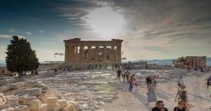 Cielo azul del lapso de tiempo de la acrópolis almacen de video