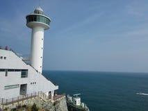 Cielo azul del mar azul Foto de archivo libre de regalías