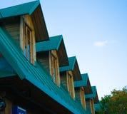 Cielo azul del nuevo tejado verde Imagenes de archivo