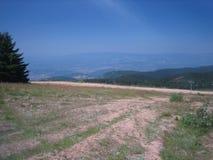 Cielo azul del valle soleado fotos de archivo
