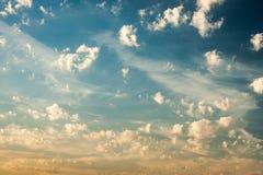 Cielo azul del verano Fotografía de archivo libre de regalías