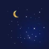 Cielo azul estrellado Foto de archivo libre de regalías