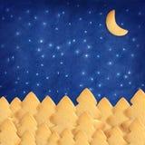 Cielo azul hecho por la galleta. Imagen de archivo