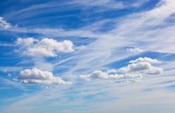 Cielo azul hermoso Foto de archivo libre de regalías