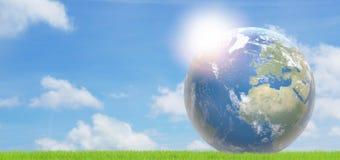 Cielo azul mundial 3d-illustration de la tierra del planeta Imagen de archivo libre de regalías