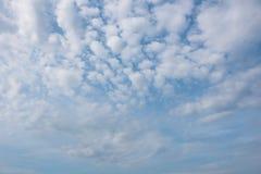 Cielo azul por la mañana Foto de archivo
