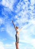 Cielo azul y aire fresco Imagen de archivo libre de regalías