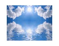 Cielo azul y del rompecabezas Imagenes de archivo