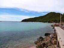 Cielo azul y el mar Foto de archivo libre de regalías