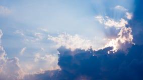 Cielo azul y fondo nublado fotografía de archivo libre de regalías