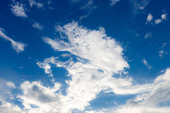 Cielo azul y la nube Imagen de archivo