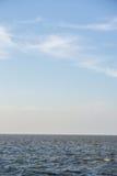 Cielo azul y lago Songkhla Fotografía de archivo