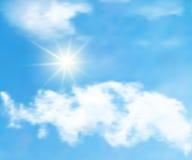 Cielo azul y nubes ilustración del vector