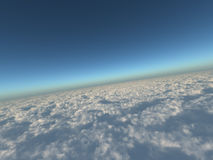 Cielo azul y nubes blancas Imagenes de archivo
