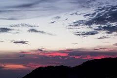 Cielo azul y púrpura del color Foto de archivo libre de regalías