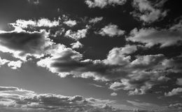 Cielo in bianco e nero Fotografie Stock Libere da Diritti