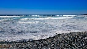 Cielo blu alla spiaggia Fotografia Stock Libera da Diritti